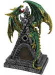 Dragon on Castle Roof Green