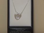 Equilibrium Necklace Angel Wings Heart Clear