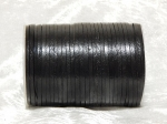3mm Black Flat Indian Leather Thonging