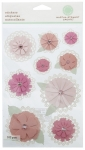 Martha Stewart Doily Tag Flower Stickers