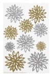 Martha Stewart Gold and Silver Chrysanthemum Stickers