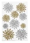 Martha Stewart Gold and Silver Chrysanthemum Stickers