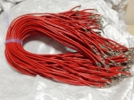 3mm Red Leather Necklace Cord