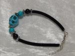 Imitation Turquoise Bracelet - Skull