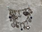 Tibetan Silver Fashion Heart Charm Bracelet