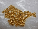 Spacer Beads 6mm Gold