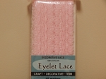 Eyelet Lace Pack of 15m Pink