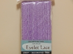 Eyelet Lace Pack of 15m Lilac