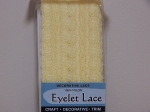 Eyelet Lace Pack of 15m Lemon