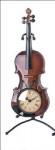 Guitar/Violin Clock Brown