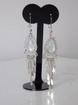 Alpaca Silver Earrings Clear