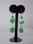 Alpaca Silver Earrings Green
