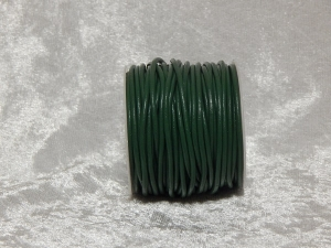 2mm Holly Green Round Leather Thonging