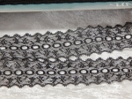 Feather Eyelet Lace Per Meter Black