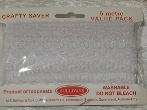 Eyelet Lace Pack of 5m Opal White