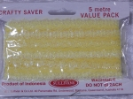 Eyelet Lace Pack of 5m Opal Yellow