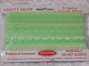 Eyelet Lace Pack of 5m Opal Green