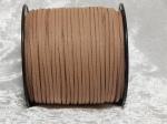 Faux Suede Cord Flat 3mm Hazelnut