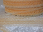 Flower Edge Eyelet Lace Per Meter 30mm Opal Peach