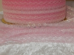 Flower Edge Eyelet Lace Per Meter 30mm Opal Pink