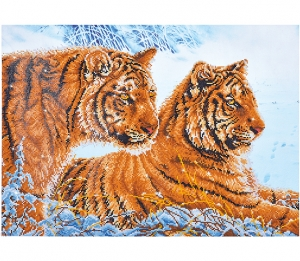 Diamond Dotz Tigers in the Snow