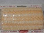 Eyelet Lace Pack of 5m Flower Edge Peach