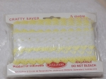 Eyelet Lace Pack of 5m Feather Edge White/Lemon