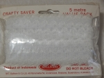 Eyelet Lace Pack of 5m Feather Edge White