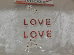 Paper Xtra Handmade Stickers - Love Love