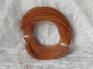 1mm Natural Round Leather Thonging