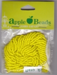 Glass Seed Beads 2.2mm Opaque Yellow Pack of 6