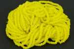 Glass Seed Beads 2.2mm Opaque Yellow 1 x 50cm String
