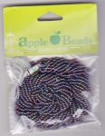 Glass Seed Beads 2.2mm Rainbow Red Pack of 6