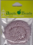 Glass Seed Beads 2.2mm Transparent Light Pink Pack of 6