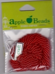 Glass Seed Beads 2.2mm Transparent Red Pack of 6