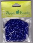 Glass Seed Beads 2.2mm Transparent Royal Blue Pack of 6