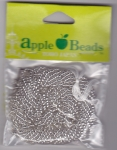 Glass Seed Beads 2.2mm Transparent Silver Pack of 6