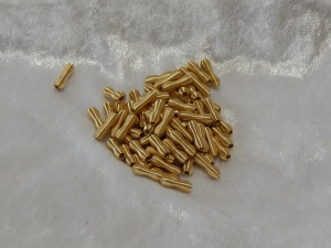 Metallic Wire Coil Beads Eights Gold