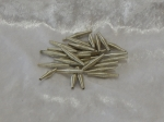 Metallic Wire Coil Beads Sticks Silver