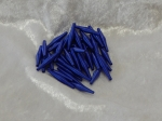 Metallic Wire Coil Beads Sticks Blue