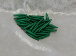 Metallic Wire Coil Beads Sticks Emerald