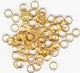 6mm Gold Plated Jump Rings x 100