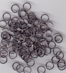 6mm Black Jump Rings x 100
