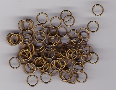 6mm Brass Jump Rings x 100