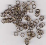 5mm Brass Jump Rings x 100
