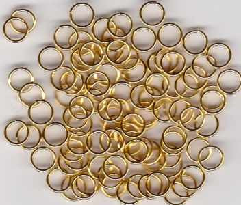 5mm Gold Plate Jump Rings x 100