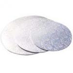 Masonite Cake Board Round Silver 6