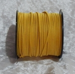Faux Suede Cord Flat 3mm Gold
