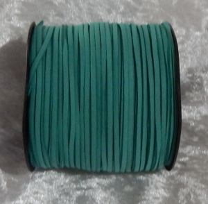 Faux Suede Cord Flat 3mm Peacock