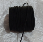 Faux Suede Cord Flat 3mm Black